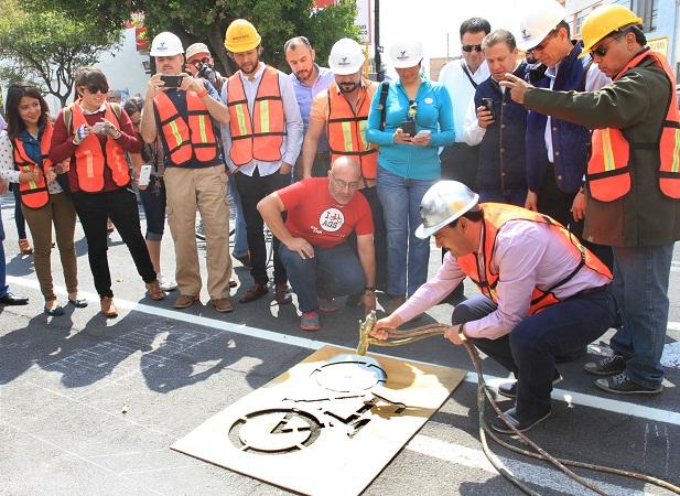 Arranca el MuniAgs construcción de circuito de ciclovías en el Centro Histórico