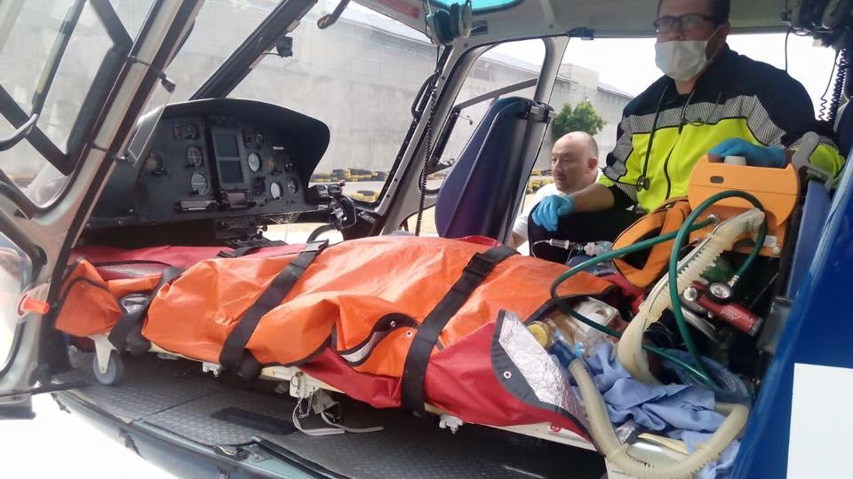 Trasladan en helicóptero a SLP a la mujer victima de una explosión