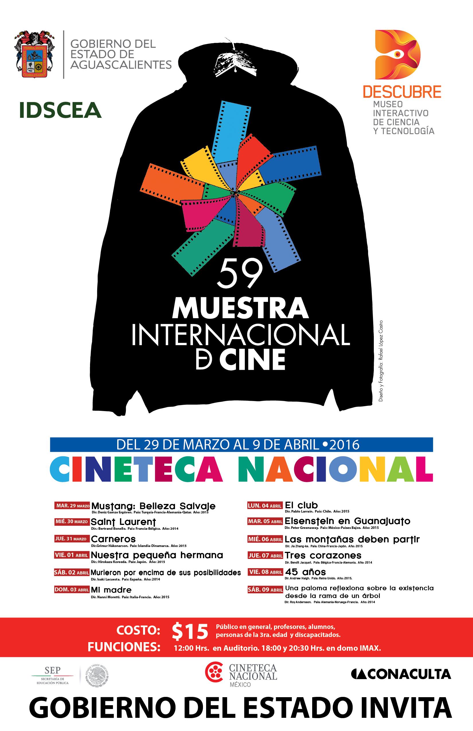 59 Muestra Internacional de Cine en Museo Descubre