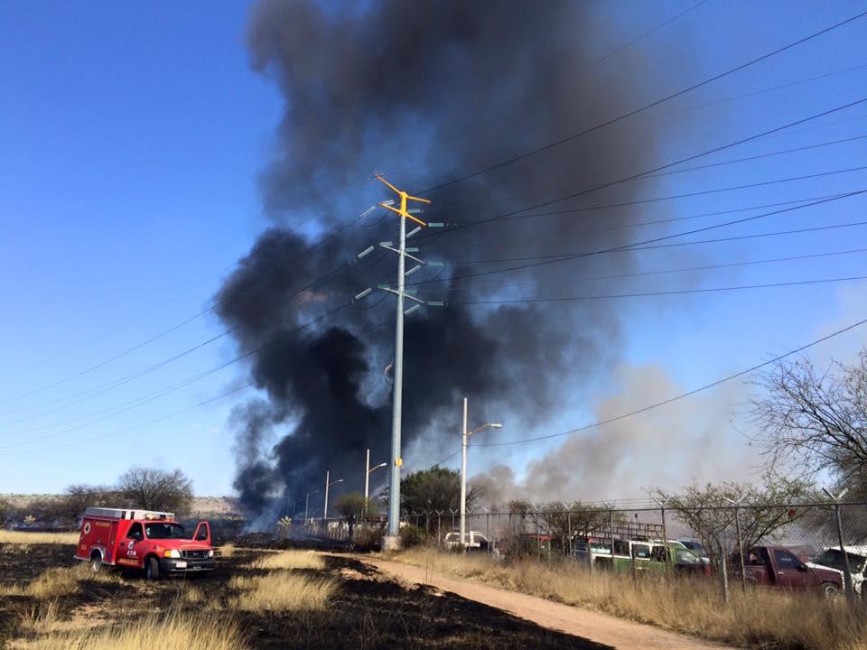 Dantesco incendio en la Pensión Municipal en Aguascalientes