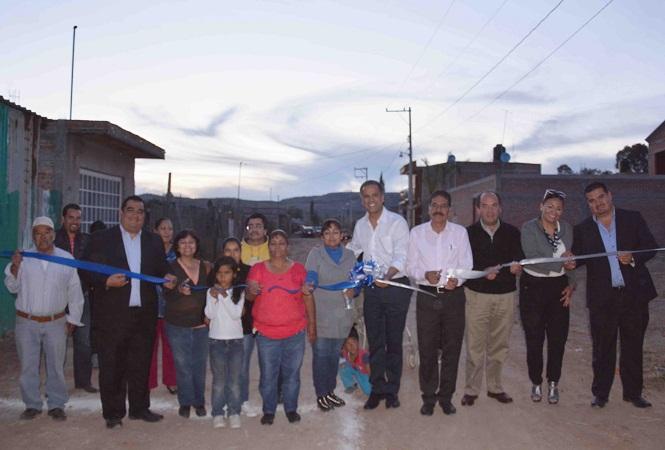 Entregan obras de alcantarillado rehabilitadas en El Chaveño, Jesús María