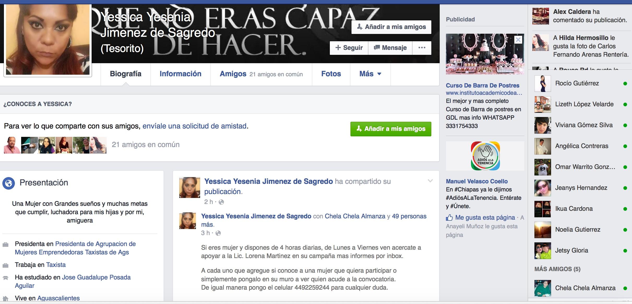Solicitan mujeres para apoyar……….. la campaña de Lorena Martínez