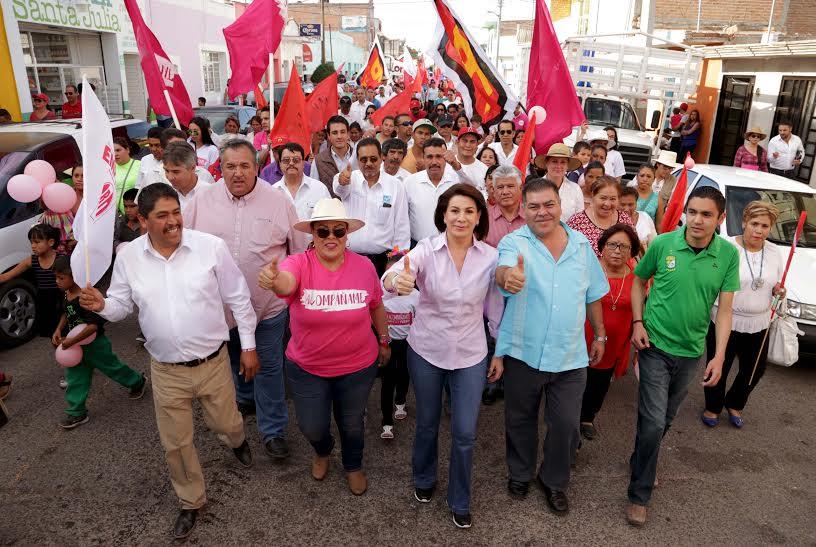 Todos los municipios de Ags tendrán las mismas oportunidades: Lorena Mtz