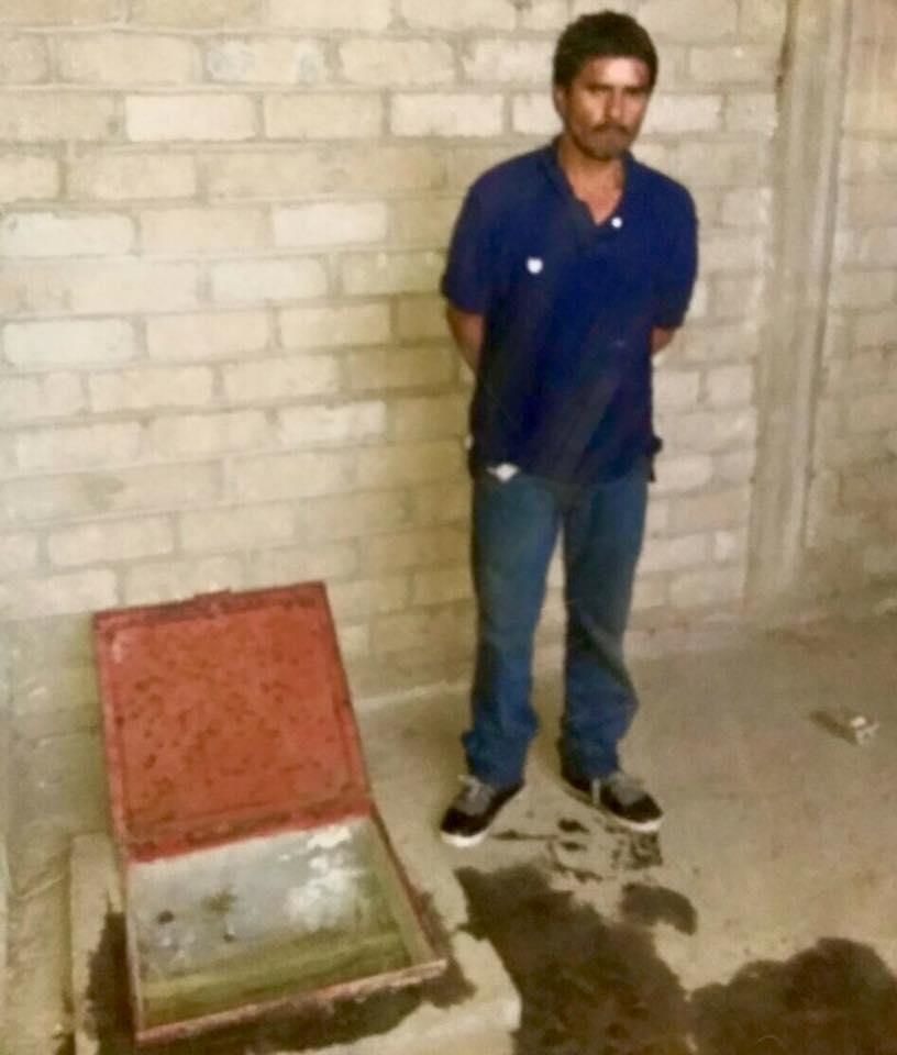 """Tras """"boquetazo"""" se escondió en aljibe, pero fue capturado"""