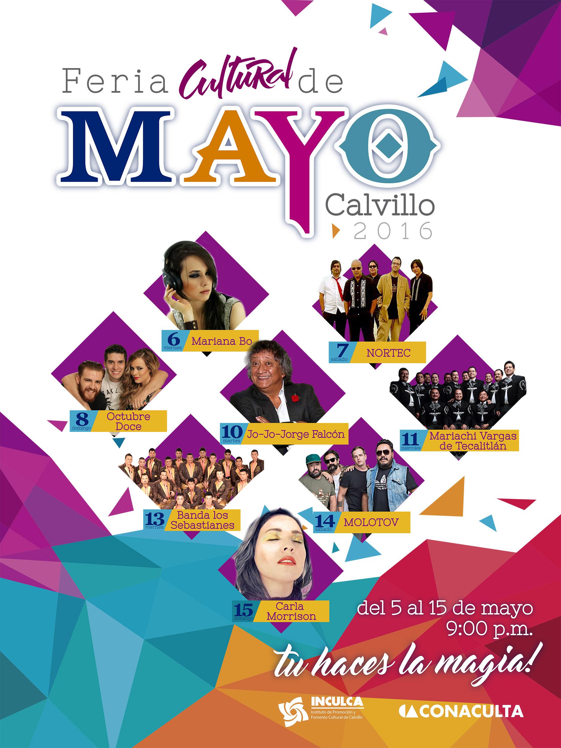 Presenta Calvillo su Feria Cultural de Mayo