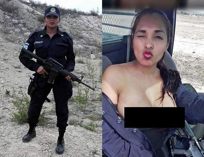 Suspenden en NL a mujer policía por desnudarse en patrulla
