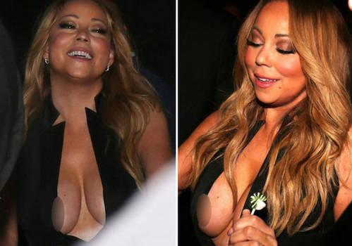 Mariah Carey enseña de más por culpa de su escote