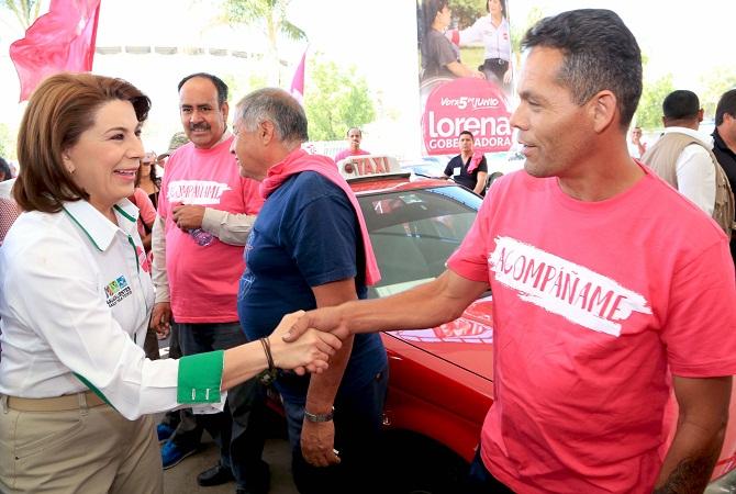 Los taxistas de Ags. merecen tener seguridad social: Lorena Martínez