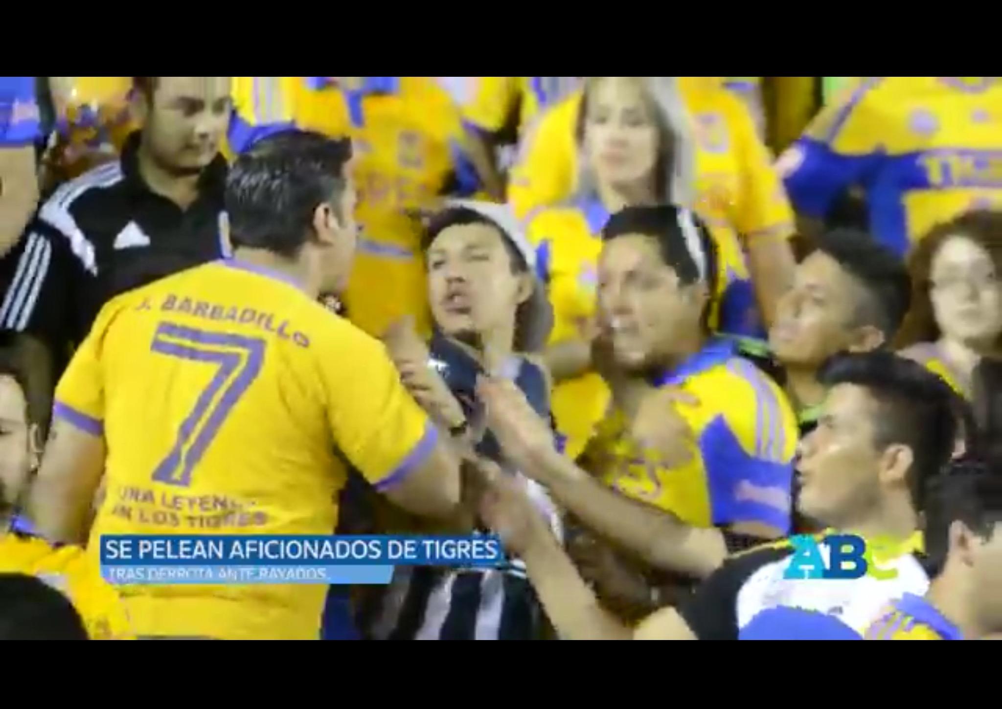 VIDEO: Aficionados de Tigres se pelean entre ellos mismos