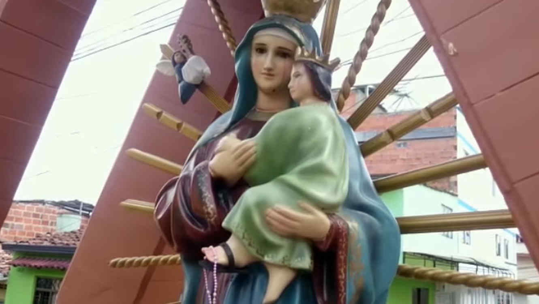 La Virgen que llora sangre en Colombia
