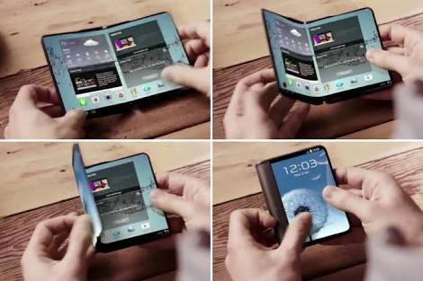 Nuevo smartphone de Samsung se doblará como una cartera