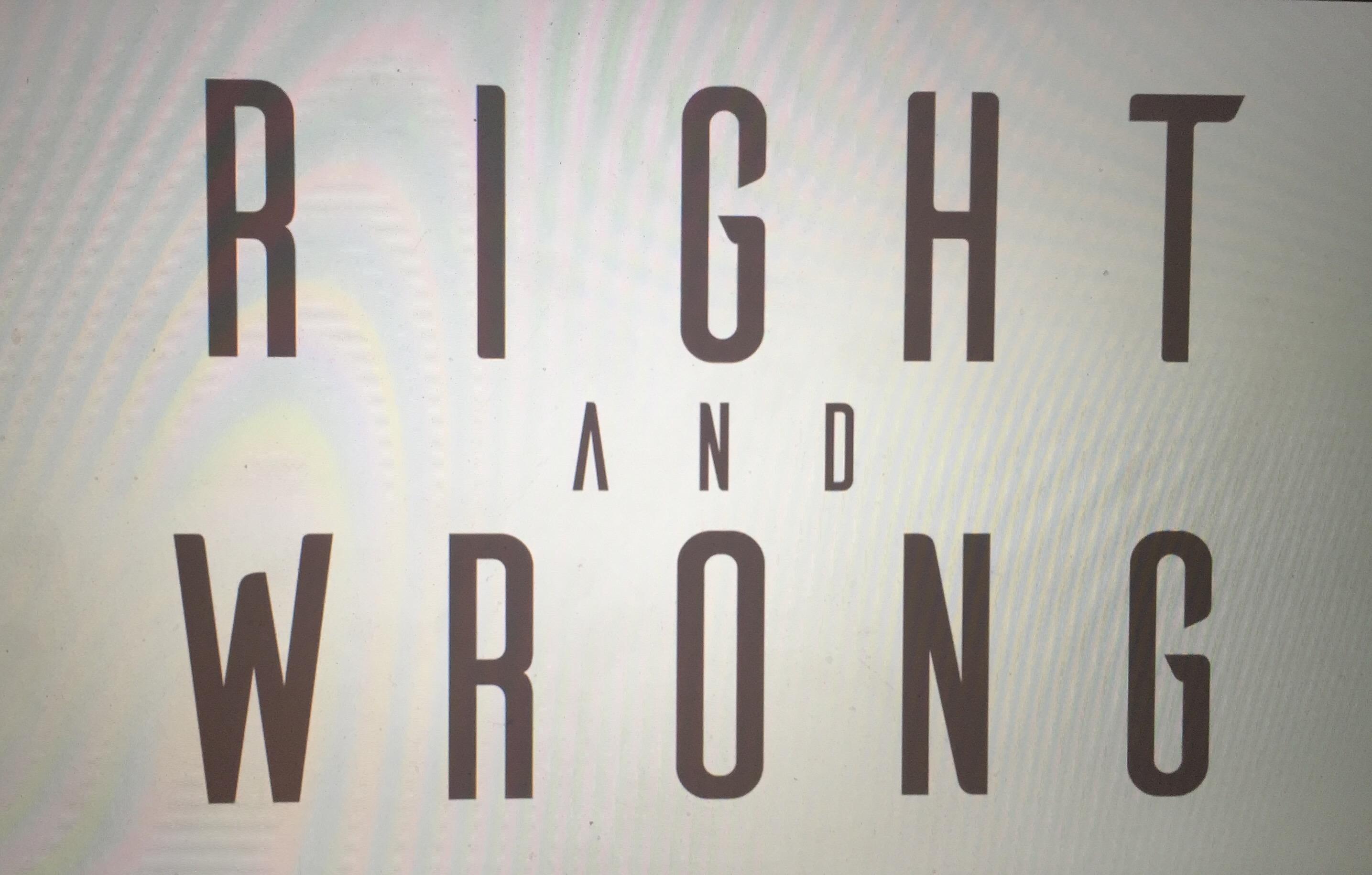 """Creadores de """"The Bat"""" realizan ahora """"Right and Wrong"""""""