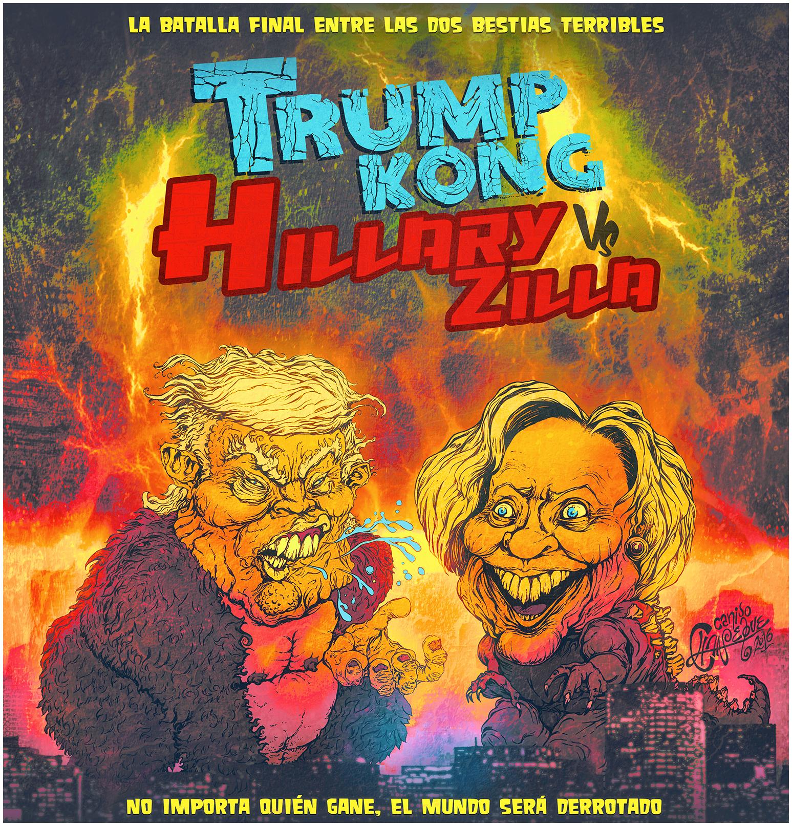Trump Kong vs Hillary Zilla