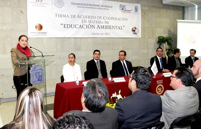 Firman el ITA y el MuniAgs convenio de colaboración para fomentar la educación ambiental