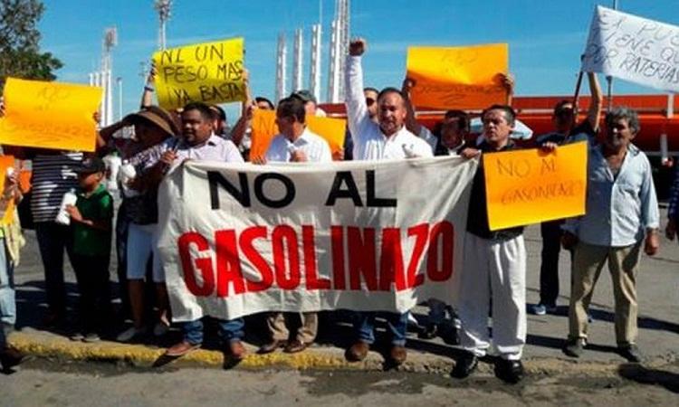 Llaman a boicot económico por gasolinazo