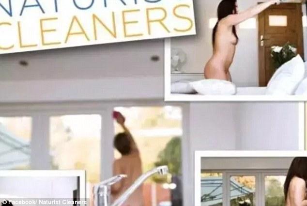 Chicas hacen el aseo desnudas por 76 euros la hora