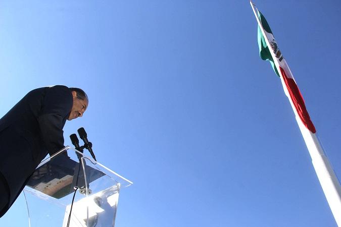Encabezó MOS evento cívico por el Día de la Bandera en Ags.