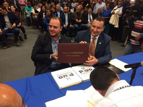Se registró Paulo Martínez para reelegirse como presidente estatal del PAN