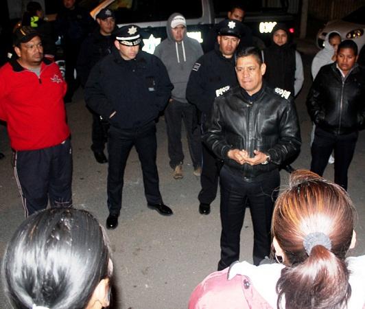 Encabeza el Capitán Benítez recorridos de a pie de la Policía Municipal de Ags.