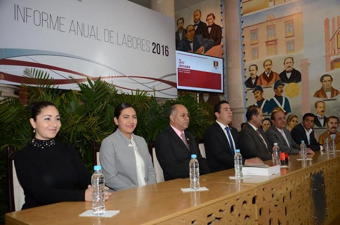 Recibe CongresoAgs informe de actividades del Poder Judicial