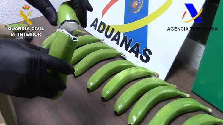 Hallan 17 kilos de cocaína en España ocultos en un cargamento de plátanos