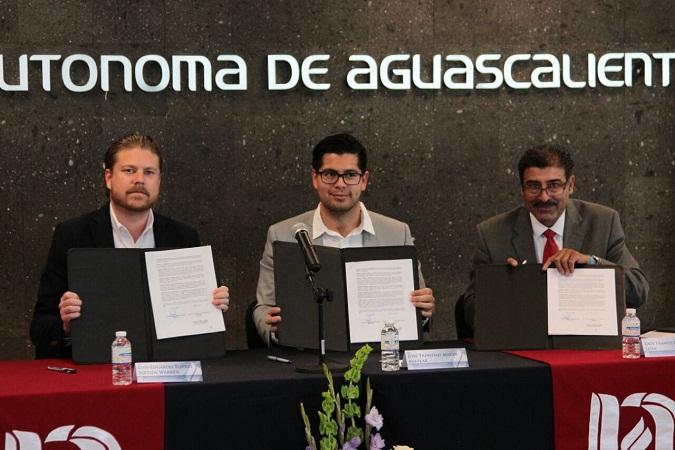 Necaxa y UAA firman convenio de colaboración