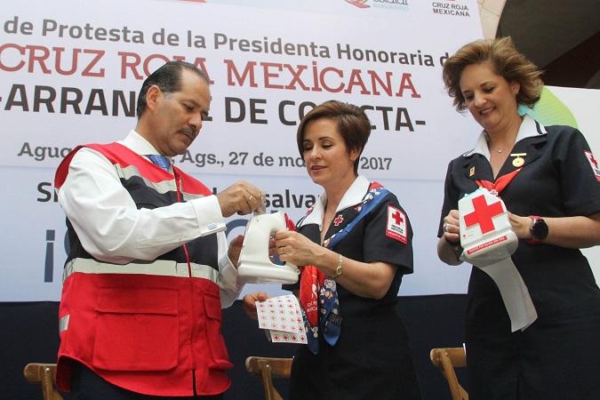 Se suma el Gob-Ags a colecta de la Cruz Roja Mexicana; Apoya con 2 mdp