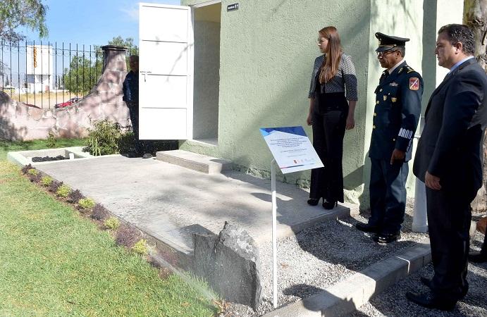 Entregó el MuniAgs primer humedal con biodigestor en México a la XIV Zona Militar