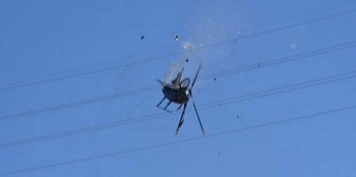 Se desploma helicóptero en Mexicali