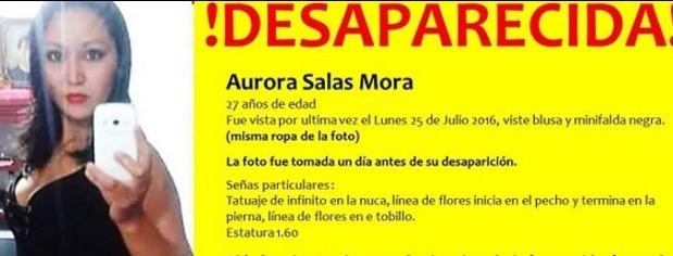 Aurora Salas fue ultimada de un disparo: FGE