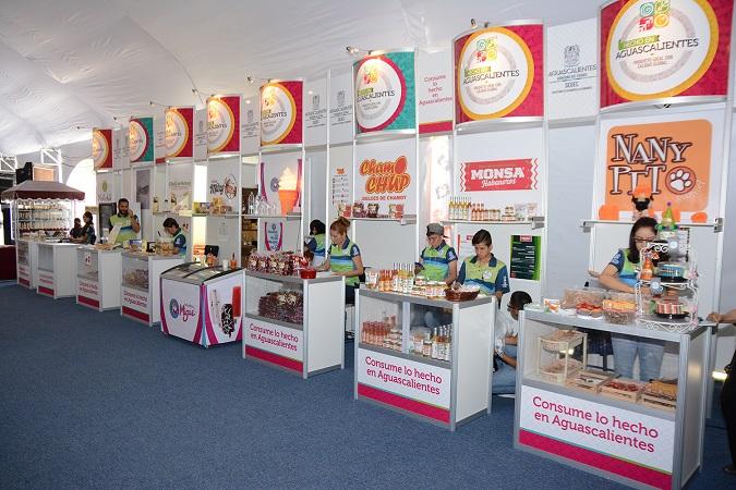 """90 marcas de productos se exhiben en Pabellón """"Hecho en Aguascalientes"""" de la FNSM"""