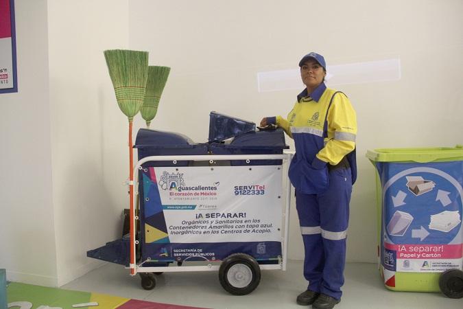 Promueve el MuniAgs cultura del reciclaje en el perímetro ferial