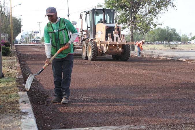 En 10 días concluirán las obras de repavimentación de Av.  José María Chávez