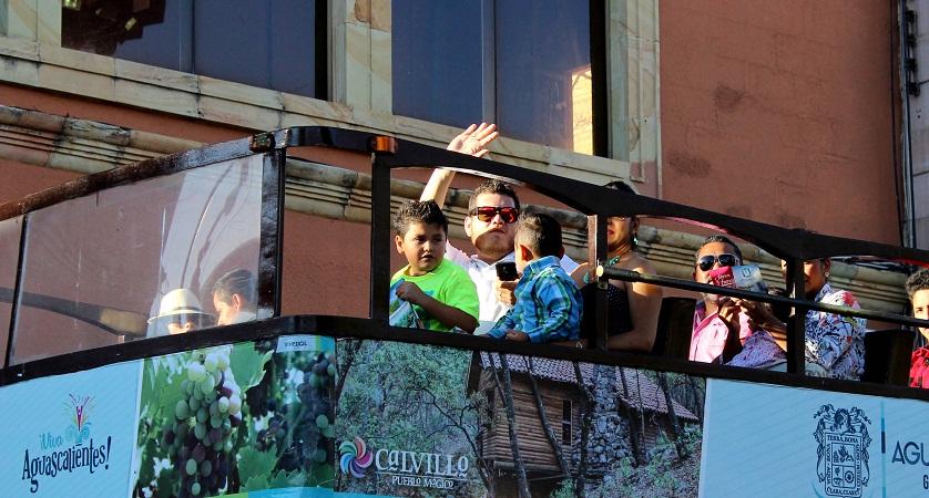 Niños gratis en tranvías turísticos del Gob-Ags este 30 de abril