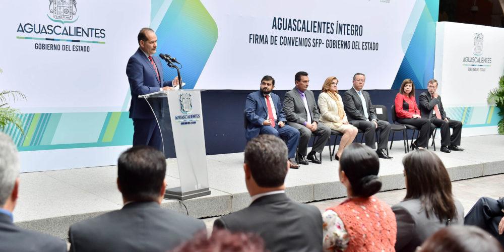 Gobierno del Estado y la Secretaría de la Función Pública colaboran por un Aguascalientes íntegro