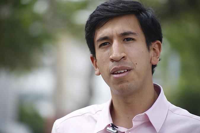 En la imagen, Pedro Kumamoto, candidato independiente a diputado por el distrito 10.  Foto: Alejandra Leyva