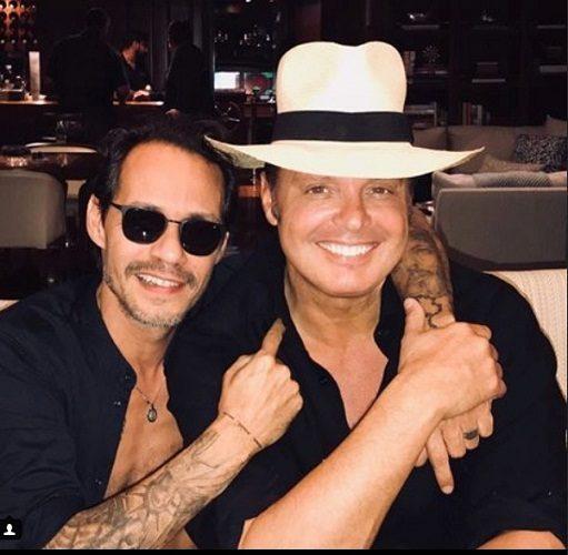 Desata polémica fotografía entre Luis Miguel y Marc Anthony