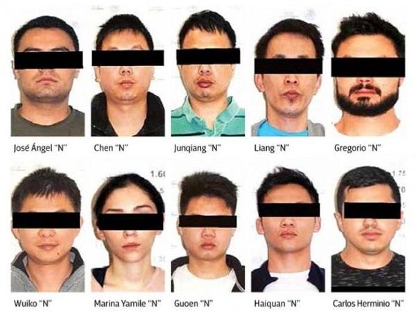 Aseguran 206 mdp a 4 chinos y 6 mexicanos del Cartel de Jalisco