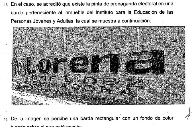 Sanciona INE a Lorena Martínez por pintar bardas en edificio público