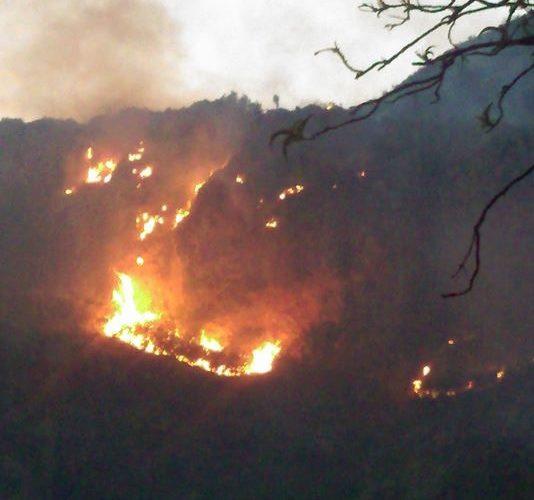 Se registra fuerte incendio en Calvillo
