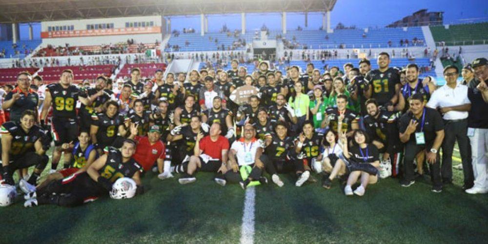Selección mexicana de futbol americano, tricampeona del Mundial Universitario