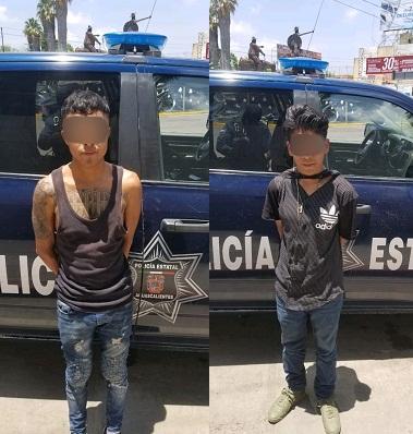 Detienen a dos narcodistribuidores de crystal en el Fracc. Guadalupe Peralta