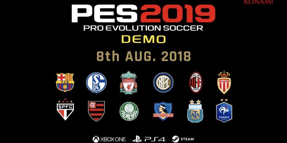 El demo de PES 2019 llegará en agosto para Xbox One PS4 y PC