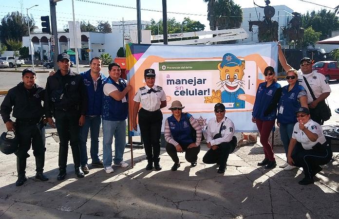 Implementa MuniAgs campaña para evitar uso del celular al volante