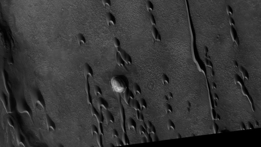 Hallan dunas 'fantasma' que demostrarían vida en Marte