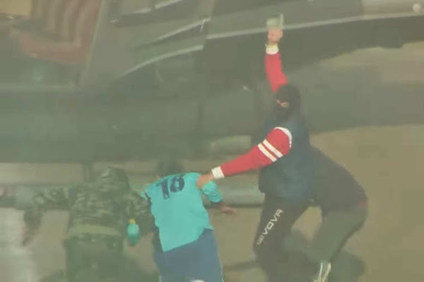 Futbolista organiza su propio secuestro en pleno partido
