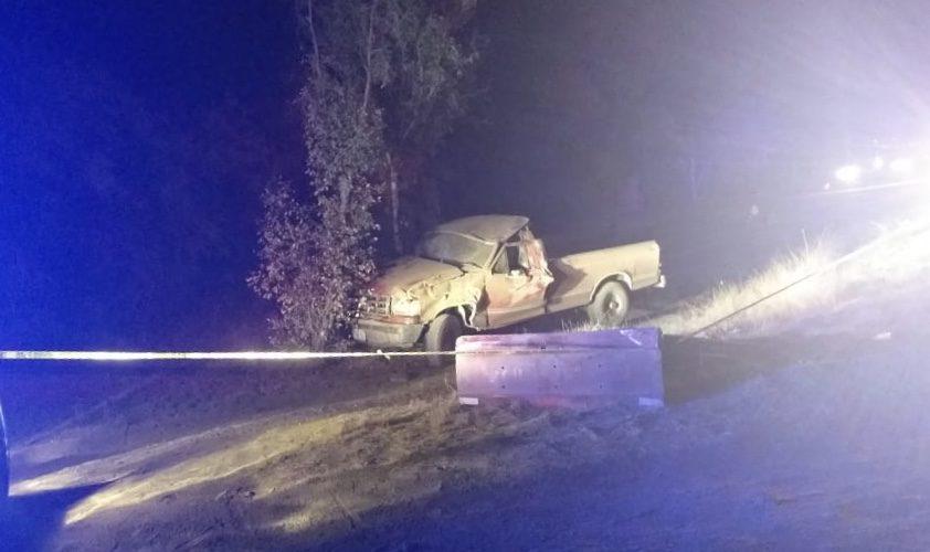 Dos personas muertas y dos heridos deja volcadura en Tepezalá