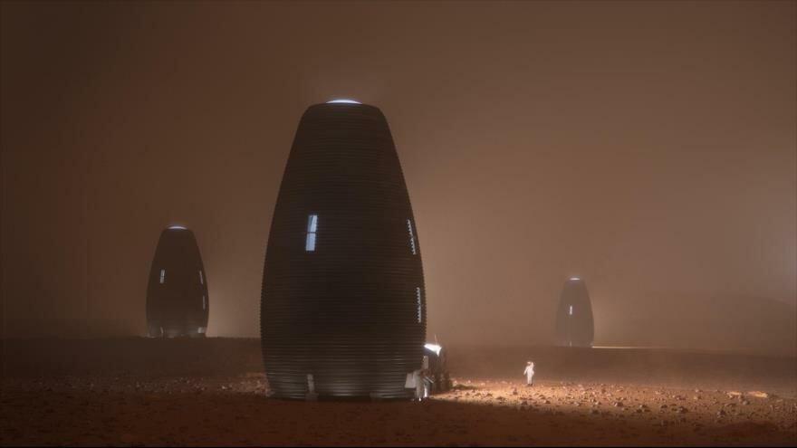 Así serían las viviendas de futuros habitantes en Marte