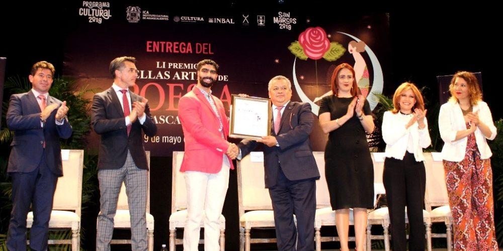 Se entregó el Premio Bellas Artes de Poesía Aguascalientes 2019