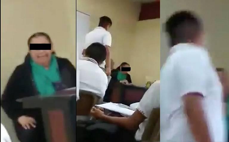"""""""Una hablada más y te mato""""; maestra amenaza a alumno en Tamaulipas"""